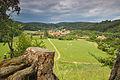 Holštejn - výhled na vesnici ze zříceniny, okres Blansko.jpg