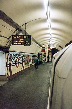 Holborn tube station Aldwych branch platform, 1994