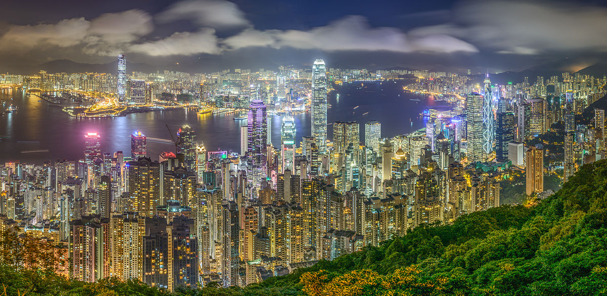Hong Kong Skyline viewed from Victoria Peak by Haydn Hsin, CC BY-SA 3.0