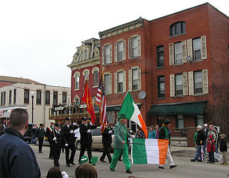 Hornell, New York - The 2011 Saint Patrick's Day parade in Hornell.