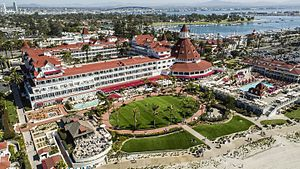 Hotel del Coronado - Aerial view of Hotel del Coronado, 2016