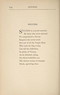 Success is Counted Sweetest poem by Emily Dickinson