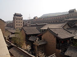 The Tower of Rivers and Mountains overlooking the House of the Huangcheng Chancellor