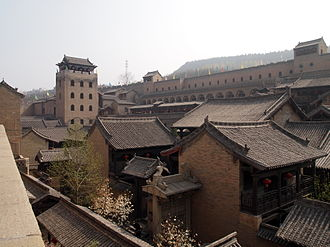 Jincheng - The Tower of Rivers and Mountains overlooking the House of the Huangcheng Chancellor