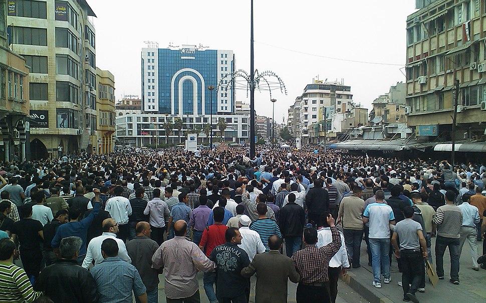 Huge demonstration in Homs against Al Assad regime