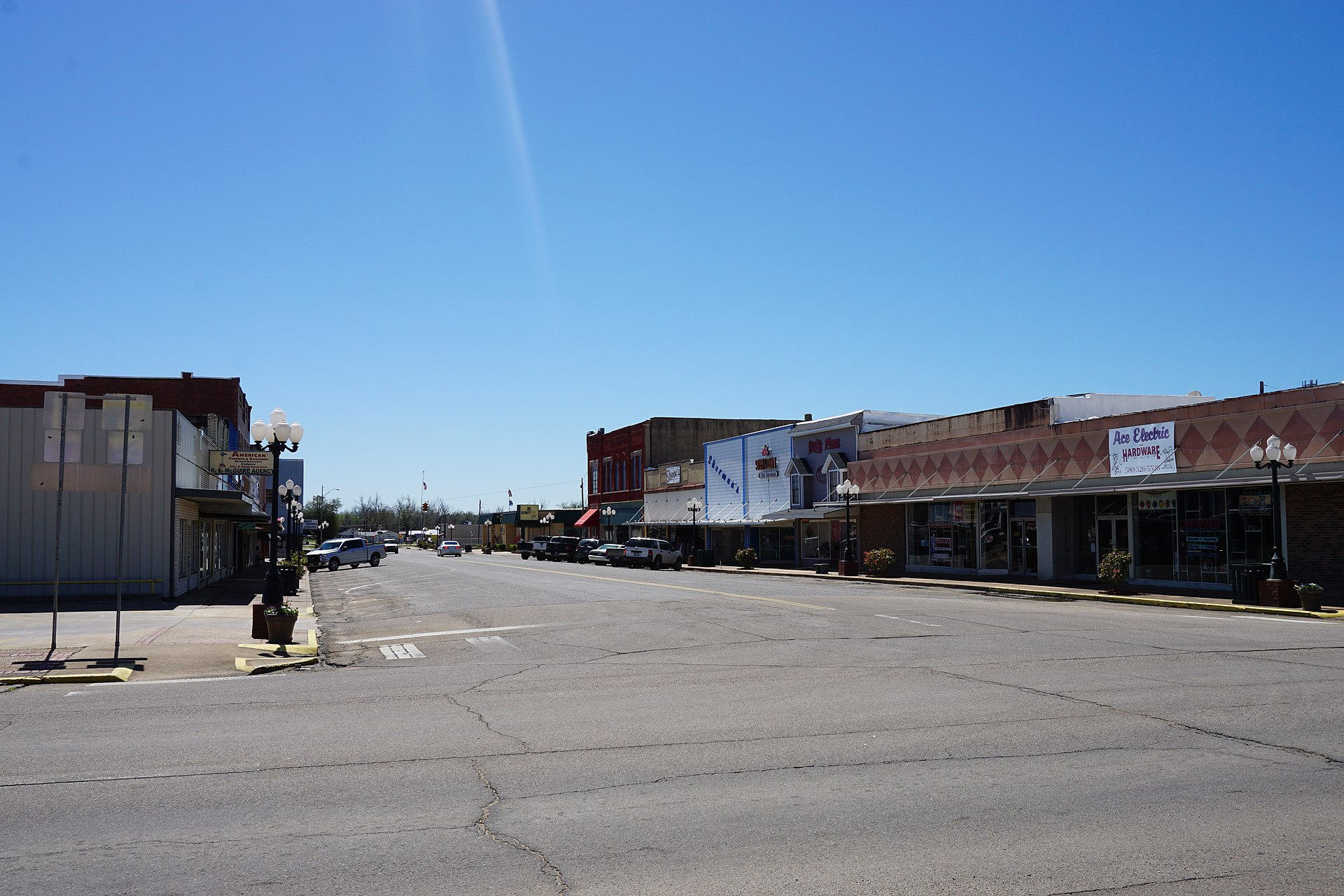 Zip Line Seat >> Hugo, Oklahoma - Wikipedia