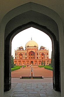 Humayun Tomb, Delhi, from the entrance portal.jpg