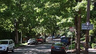 Humboldt Street Historic District - Sign marking historic district
