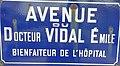 Hyères (Var) Av. Docteur Vidal, fondateur de l'Hôpital Renée Sabran à Giens.jpg