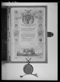 Hyllningsadress av papper från staden Hamburg till Karl XIV Johan - Livrustkammaren - 18999.tif