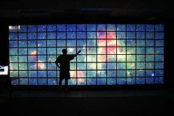 Hyperwall displaying one single image