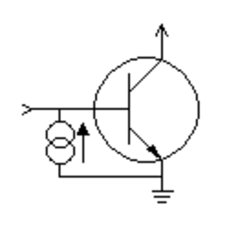 Integrated injection logic - Simplified schematic of an I2L inverter.