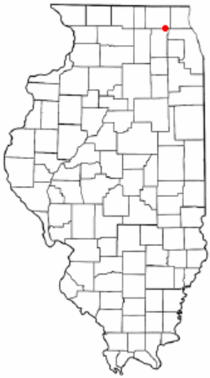 Algonquin, Illinois - Location of Algonquin, Illinois