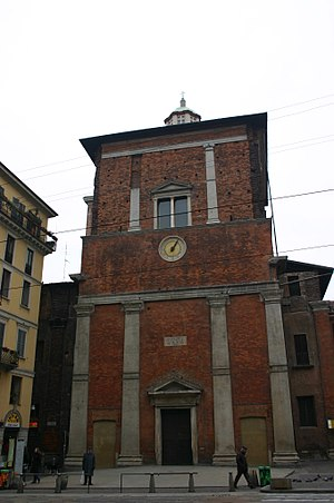 San Nazaro in Brolo - Façade with the Trivulzio Mausoleum.