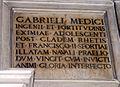 IMG 6896 - Milano - Duomo - Tomba Medeghino - Lapide x Gabriele Medici - Foto Giovanni Dall'Orto 8 mar 2007.jpg
