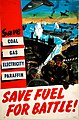 INF3-191 Fuel Economy Save fuel for battle (beach landing scene) Artist Clive Uptton.jpg