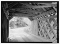 INTERIOR, NORTHEAST PORTAL. - Brown Bridge, Spanning Cold River, Upper Cold River Road, Shrewsbury, Rutland County, VT HAER VT-28-2.tif