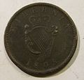 IRELAND, GEORGE III 1805 -ONE PENNY a - Flickr - woody1778a.jpg