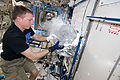 ISS-43 Terry Virts works with experiment samples.jpg