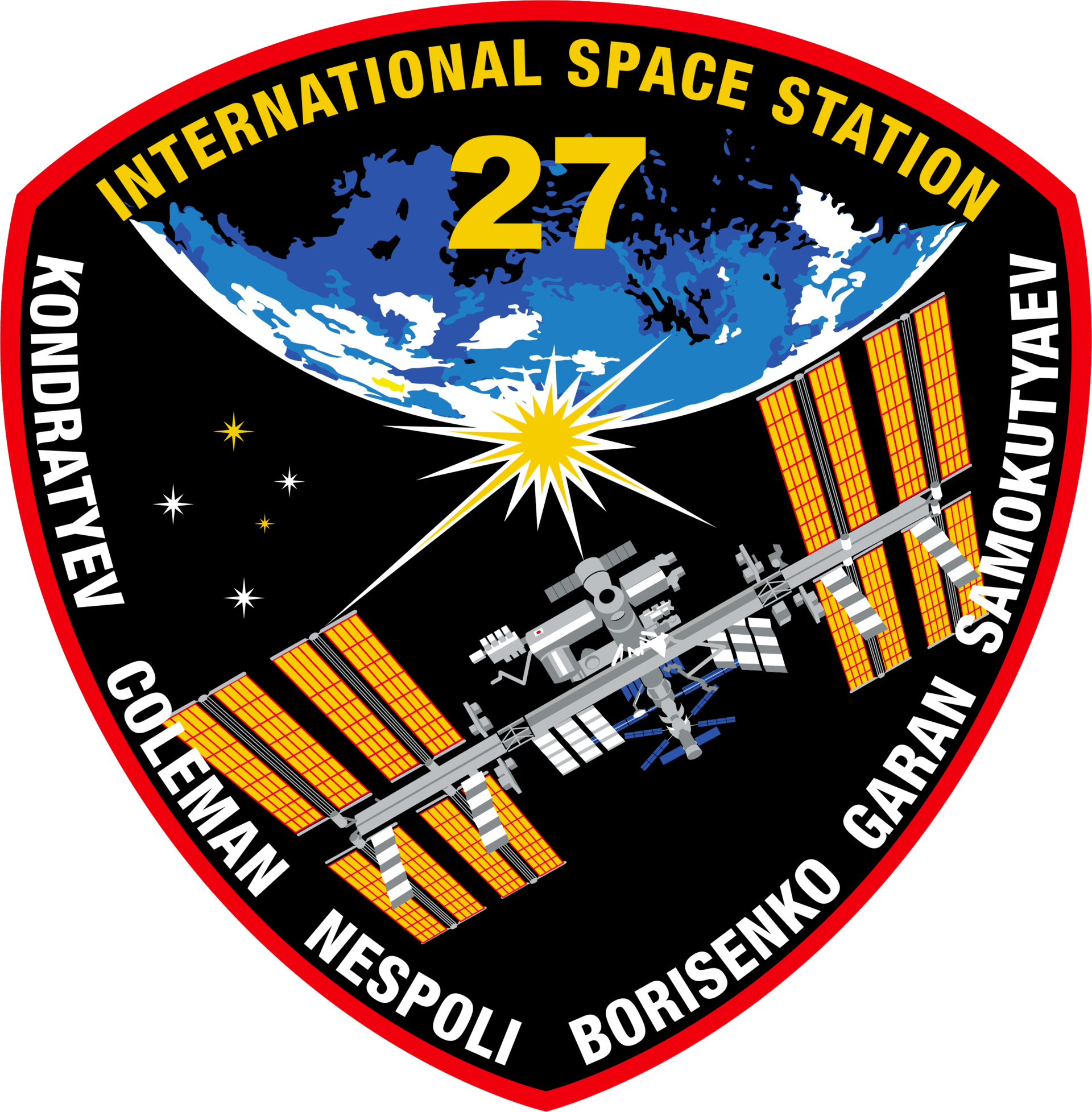Mission Patches On Mission 4 To The International Space: ISS-Expedition 27