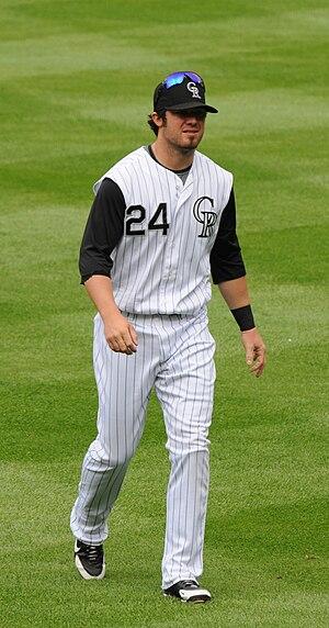 Ian Stewart (baseball) - Stewart with the Colorado Rockies in 2008