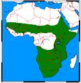 Ictonyx striatus range map.png