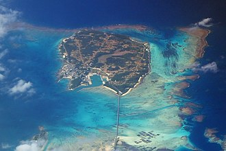 Ikema Island - Aerial view of Ikema-jima from southeast