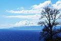 Ilha de São Jorge em 1 plano a ilha do Pico em 2 plano, vista das Cinco Ribeiras, ilha Terceira, Açores.jpg