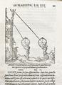 Illustration, män som mäter avstånd. Bok. Träsnitt. Vetenskapliga instrument - Skoklosters slott - 87093.tif