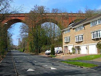 East Grinstead - The Imberhorne Viaduct carrying the Bluebell Railway in East Grinstead