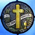 Immaculate Conception Catholic Church (Knoxville, Tennessee) - stained glass, In Hoc Signo Vinces.jpg