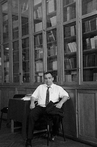 Imre Galambos - Imre Galambos at the Institute of Oriental Manuscripts, Saint Petersburg, July 2010