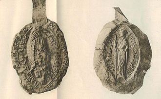 Inchaffray Abbey - Seal of the abbot of Inchaffray. The abbot is either Innocent or Nicholas.