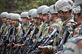 Indian Army paratroopers learn to use M4 carbines at the beginning of Yudh Abhyas 2013.jpg