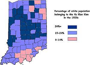 Indiana Klan Wikipedia - Kkk map us