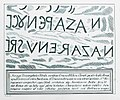 Inscription kept in the Basilica of the Holy Cross - Godard - Faultrier Victor - 1857.jpg