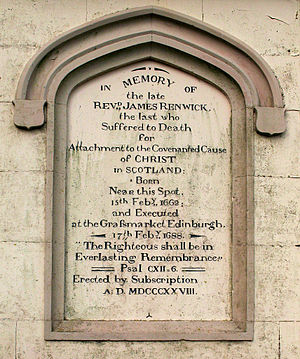 James Renwick (Covenanter) - Inscription on the Renwick Monument, Moniaive