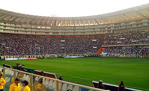 Peru national football team - Interior of the Estadio Nacional in 2011