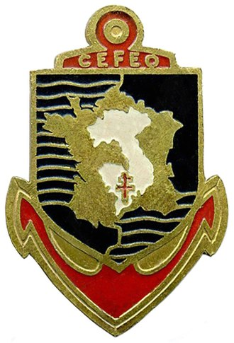 French Far East Expeditionary Corps - CEFEO insignia bearing the traditional French Navy anchor symbol.