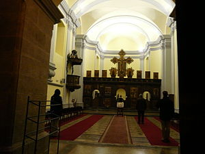 Church of St. Nicholas, Rijeka - Image: Interior of Serbian Ortodox Saint Nicola church in R Ijeka Croatia