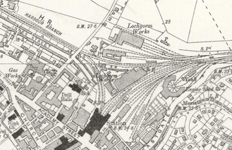 Inverness railway station - The station layout in 1902