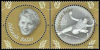 Iolanda Balaș - Balaș on 2004 Romanian stamps