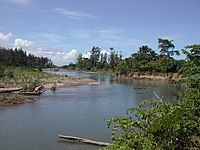 Irabere River, a major crocodile infested river on south coast delimiting western edge of Lautem District, Timor-Leste.jpg