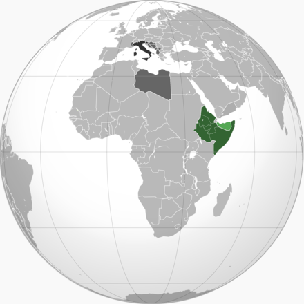 The AOI in 1936. British Somaliland annexed, 1940 Italian East Africa.png