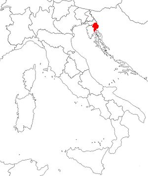 Province of Carnaro - Location of the Province of Carnaro in the Kingdom of Italy.