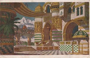 Ruslan and Ludmila - 1905 set design for the opera by Ivan Bilibin