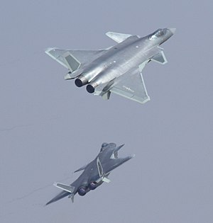 Chengdu J-20 - The two Chengdu J-20s making their first public appearance at Airshow China 2016