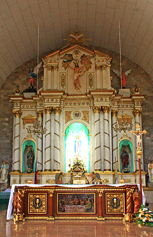 Immaculate Conception Church (Guagua) - Main altarpiece by local artist Willy Layug
