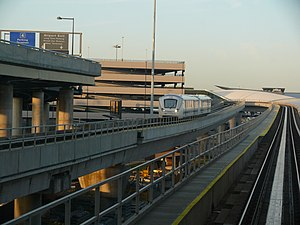 AirTrain LaGuardia - The AirTrain LaGuardia, as proposed, would be like the AirTrain JFK (pictured)