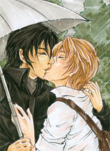 Contoh karya seni shōnen-ai, aslinya diterbitkan di Animexx .